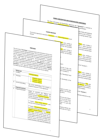 15 Critical Startup Legal Document Templates